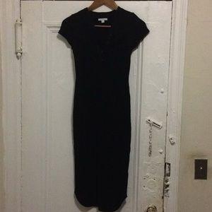 Standard James Perse Black Dress Size 0 New
